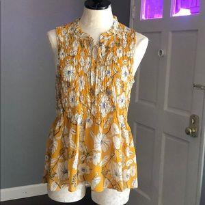 Cynthia Rowley Smocked Floral Top